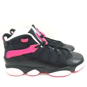 Nike Jordan 6 Girls Big Kids Black Hyper Pink